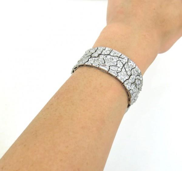 アートデコ《エジプトリバイバル25ctダイヤモンド》ブレスレット_画像3
