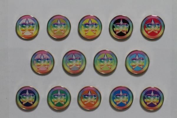 SUPER☆GiRLS六周年記念新グッズ ピンバッチ 前島亜美 ライブグッズの画像