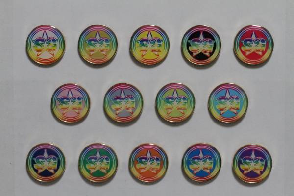 SUPER☆GiRLS六周年記念新グッズ ピンバッチ 宮崎理奈 ライブグッズの画像