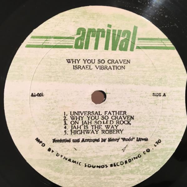 ■Israel Vibration/Why You So Craven■ROOTS名盤!_画像2
