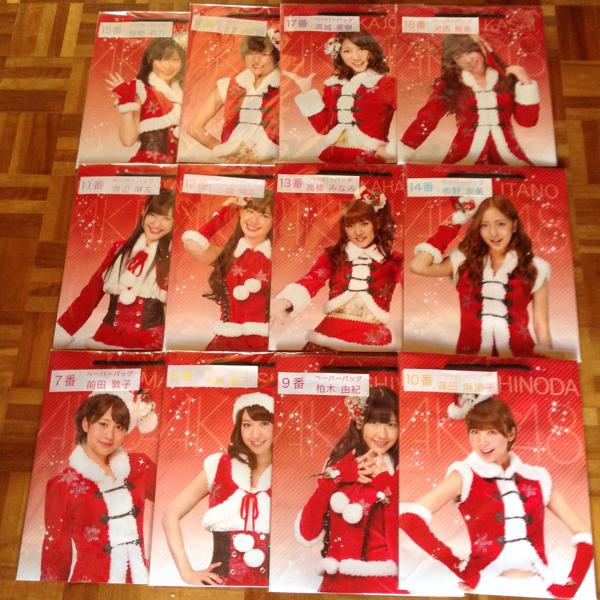 AKB48 ペーパーバッグ フルコンプ 指原柏木渡辺前田大島他 12種 ライブ・総選挙グッズの画像