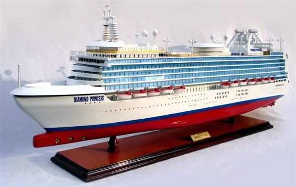 ●新品特価 豪華客船 Diamond Princess 82cmL 完成品 送料無料