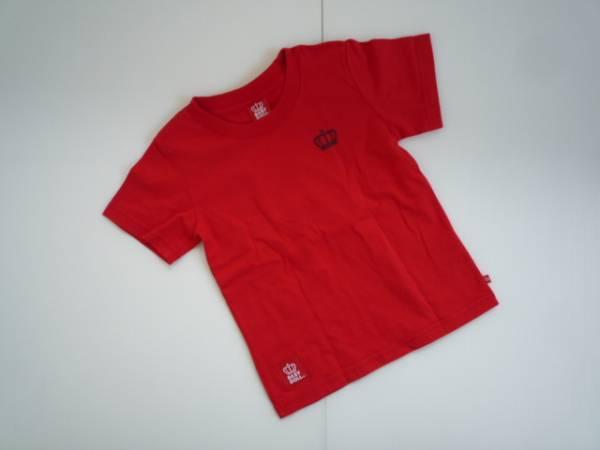 【良品!】 ★ ベビードール / BABY DOLL ★ 半袖Tシャツ 赤 110 ロゴ