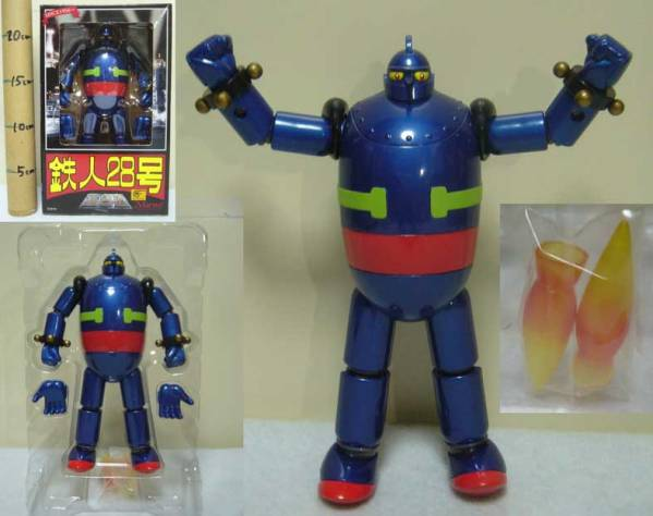 鉄人28号/重合金/中期型ブルー/備品付/1999年産/マーミット/新品_画像1