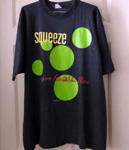 Squeeze スクイーズ 90s ビンテージ ツアーTシャツ B