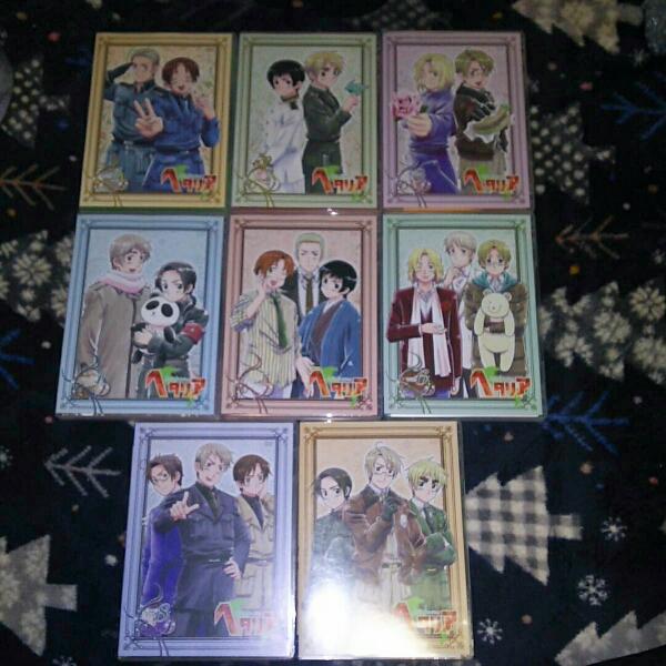 中古DVD ヘタリア初回限定版 全8巻セット グッズの画像