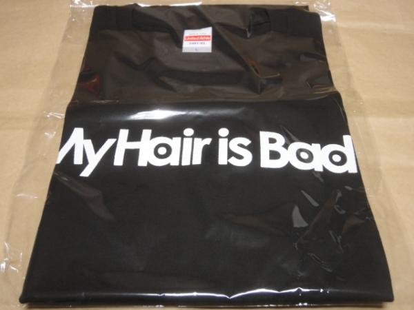 新品 My Hair is Bad ロゴTシャツ (黒) Lサイズ /マイヘア