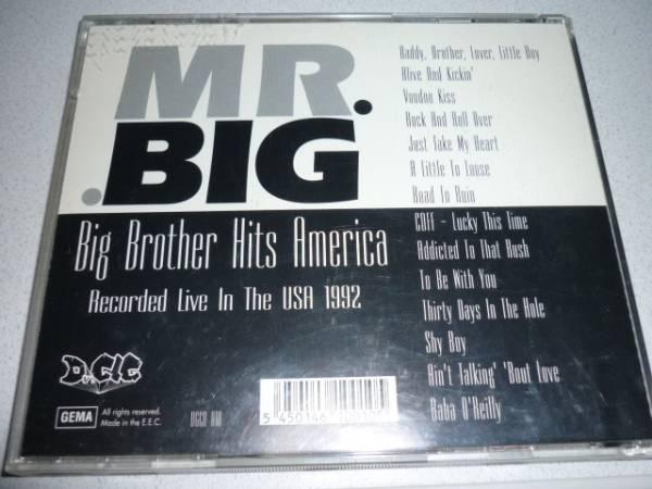 【プレス盤】MR.BIGミスタービッグ/BigBrotherHitsAmerica(92年)_画像2