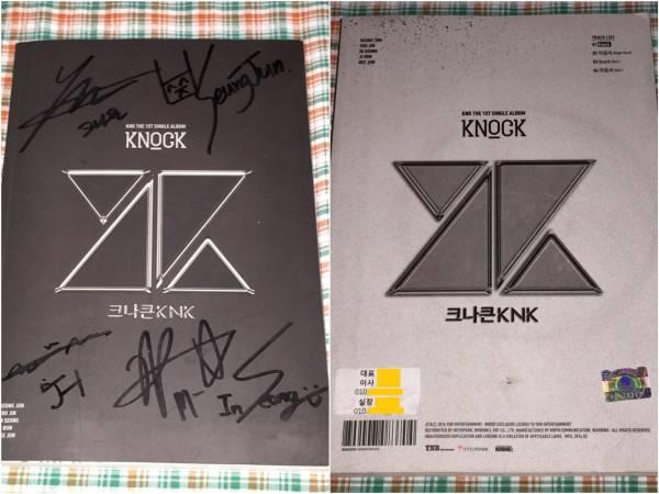 KNK(クナクン)@1stシングル:Knock(非売品CD)@直筆サイン