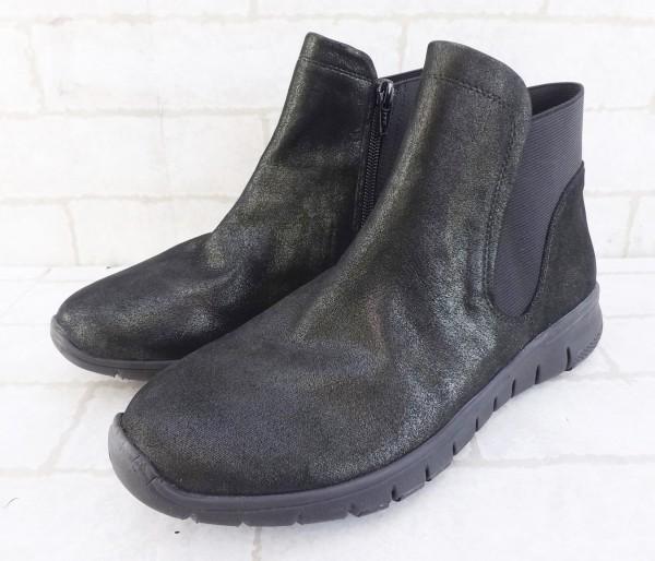 未使用 enchanted 光沢 サイドゴア ショート ブーツ 黒 M*65007