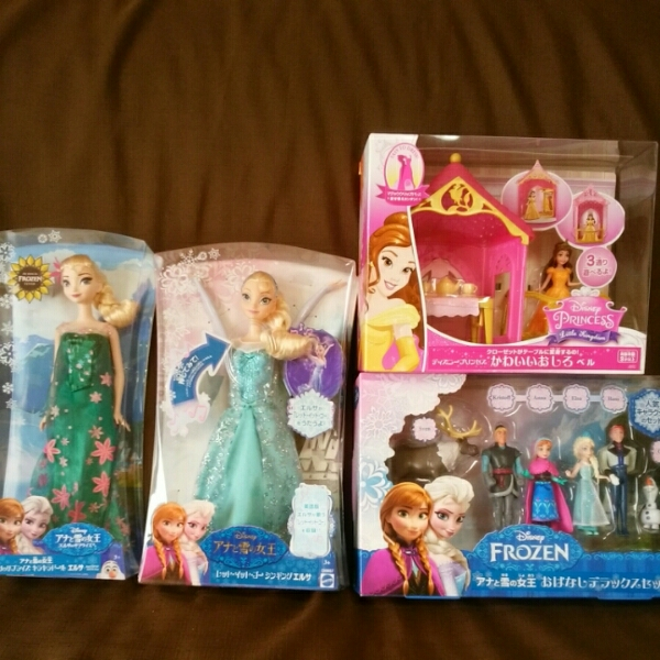 新品 豪華 アナ雪 姫セット エルサ 歌います。ディズニー ディズニーグッズの画像