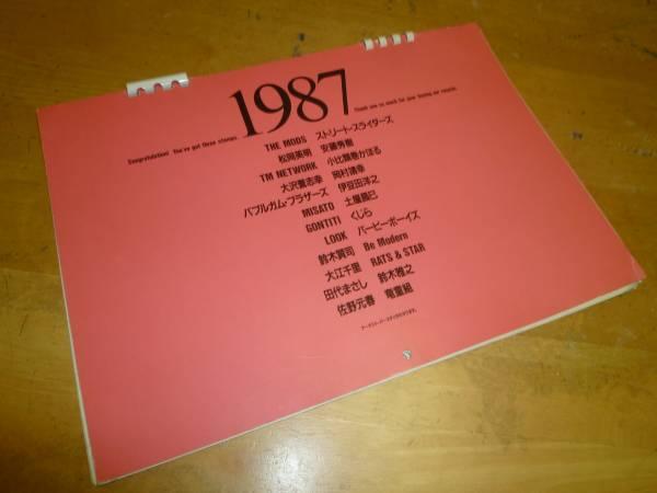 【 EPIC/SONYエピック・ソニー 1987 カレンダー 】 TM NETWORK 岡村靖幸 THE MODS ストリート・スライダーズ 土屋昌巳 ゴンチチ 佐野元春