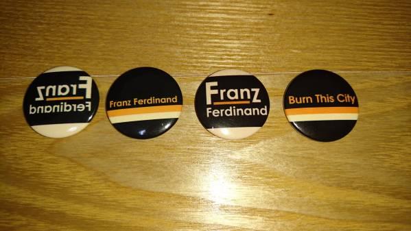 ■FRANZ FERDINAND■缶バッジ4個セット■送料込■フランツ