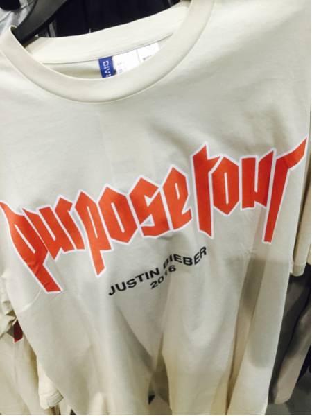 ジャスティンビーバー H&M fear of god justinbieber porpose tour ツアー オフィシャル 完売 限定 off white ライブグッズの画像