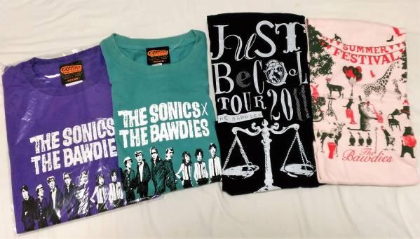 THE BAWDIES ツアーTシャツ 4枚セット ボゥディーズ ライブグッズの画像