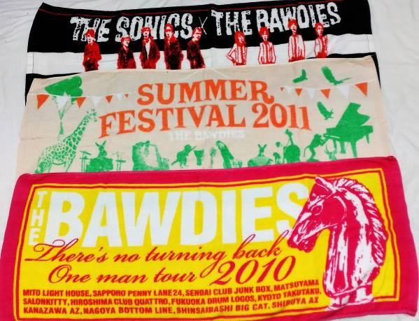 THE BAWDIES ツアータオル 3枚セット ボゥディーズ ライブグッズの画像