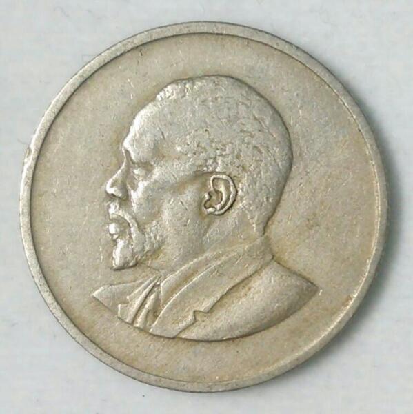 【ケニア】50セント硬貨 1968年 約21mm_画像2