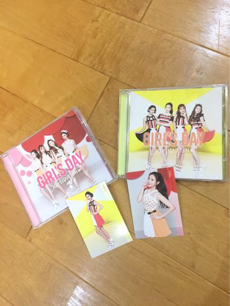 ガールズデイ JPNver CD2枚 ヘリ☆ユラ トレカ付き