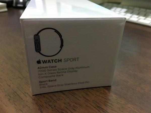 Apple Watch sport アップルウォッチスポーツスペースグレイ新品_画像2