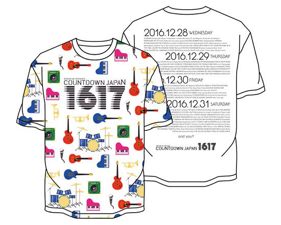 ●COUNTDOWN JAPAN 16/17 楽器Tシャツ/M 未使用即決