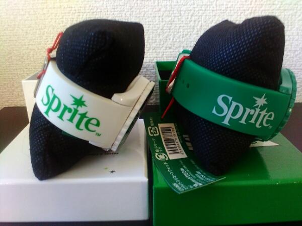 未使用♪スプライトSPRITE☆グリーンxホワイト♪腕時計_画像2