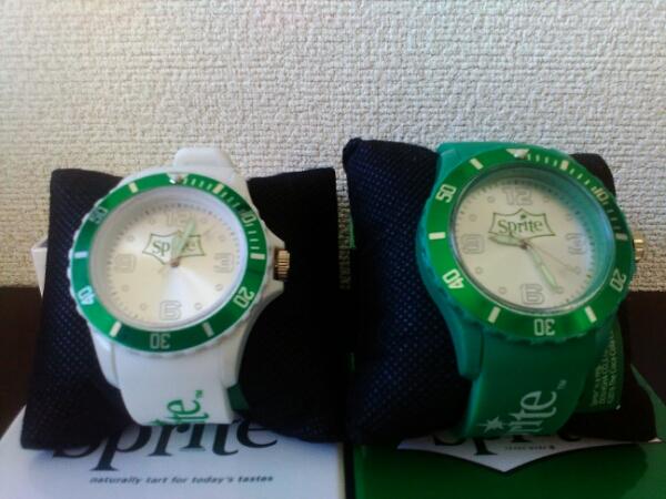 未使用♪スプライトSPRITE☆グリーンxホワイト♪腕時計_画像3