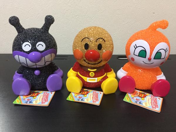 新品アンパンマンLEDライティングドール卓上人形おもちゃ3セット グッズの画像