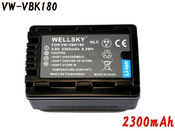 新品 Panasonic VW-VBK180-K 互換バッテリー HDC-TM70 HDC-TM60_純正品と同じよう使用可能