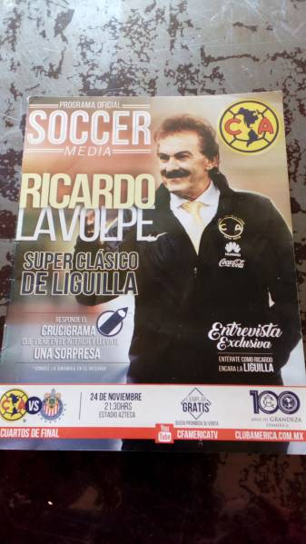 クラブアメリカvsグアダラハラ、メキシコ、マッチデープログラム