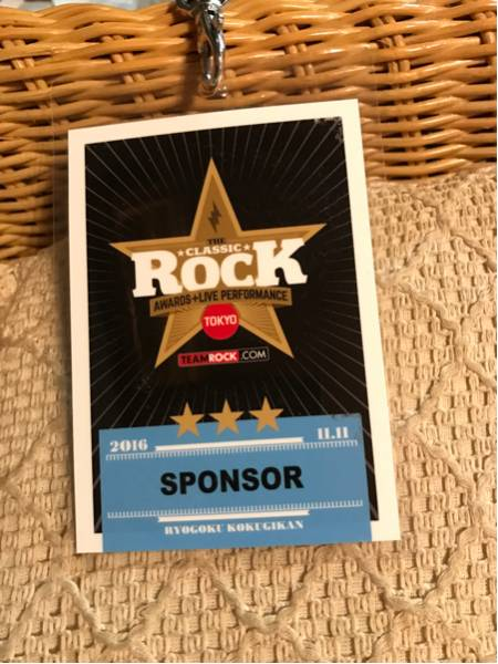 2016 classic Rock award ID sponsor 非売品