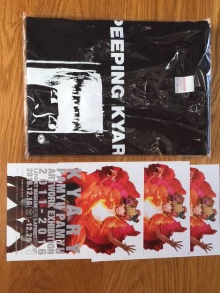値下!きゃりーぱみゅぱみゅアートワーク展 Tシャツ黒 Peeping Kyary