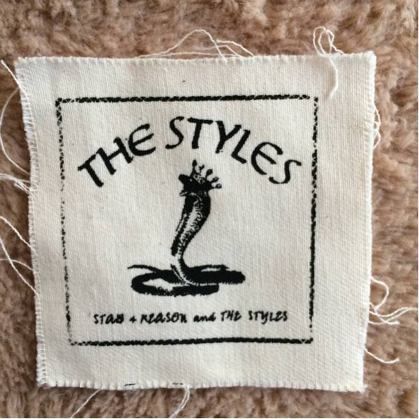 STAB 4 REASON AND THE STYLES 布パッチ hard core punk 白