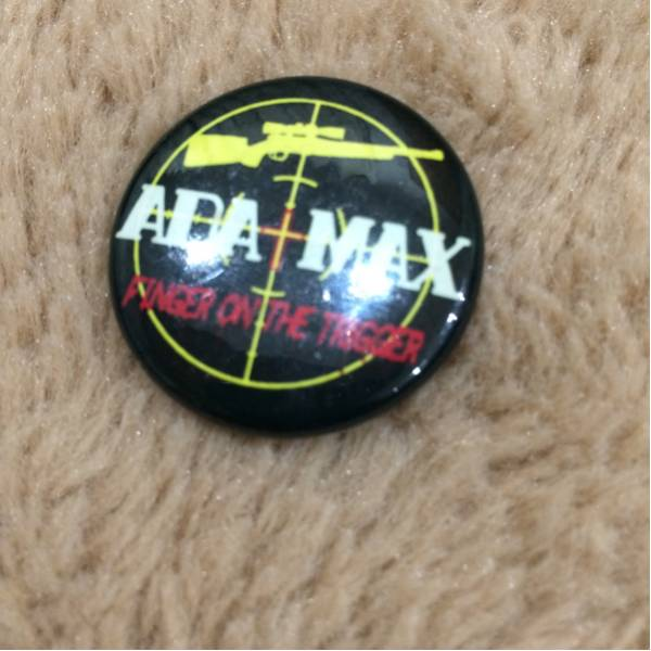 ADA+MAX 缶バッチ hard core punk 中古 ada max flash gordon