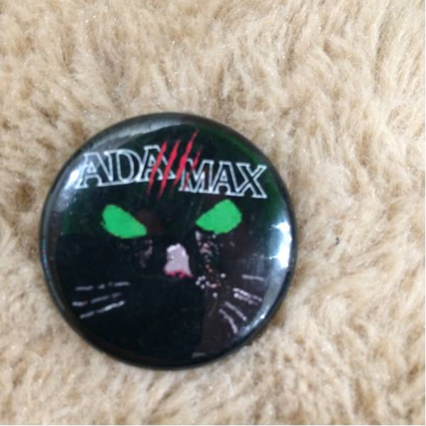 ADA+MAX 缶バッチ hard core punk 中古 ada max flash gordon 猫