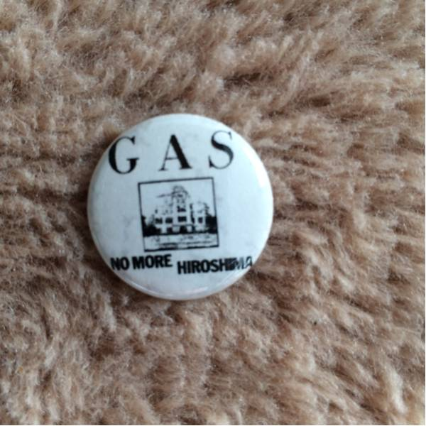 GAS no more hiroshima 缶バッチ hard core punk grind 中古