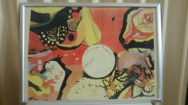 Beatles ホテルで描いた絵のコピー(新品額入り)送料込