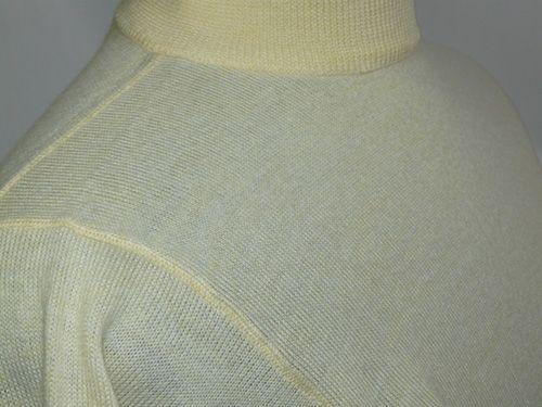 イタリア製Zegna Baruffa Cash wool 半袖ハイネック S Yellow_12ゲージハイネック(モックネック)