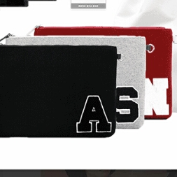 AAA 與真司郎 クラッチバッグ 黒