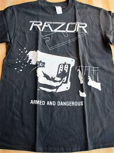 RAZOR Tシャツ armed and dangerous 黒M / slayer sodom venom