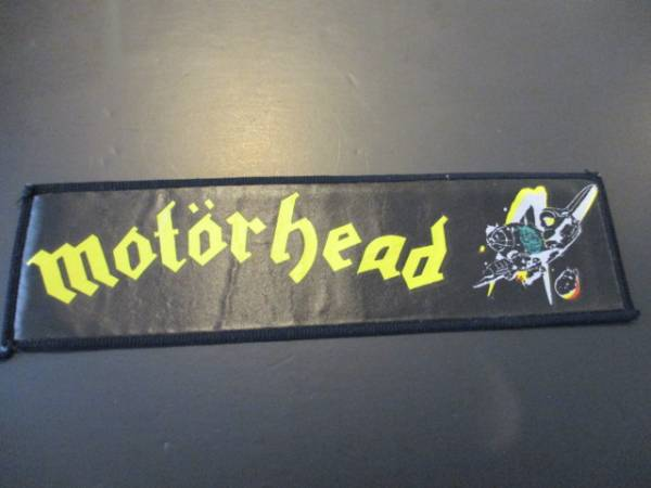 MOTORHEAD プリントパッチ ワッペン 黄 / iron maiden metallica
