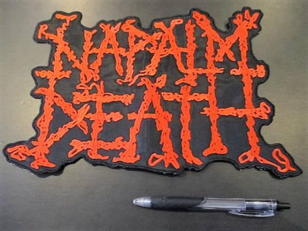 NAPALM DEATH 刺繍バックパッチ ワッペン 赤 / terrorizer