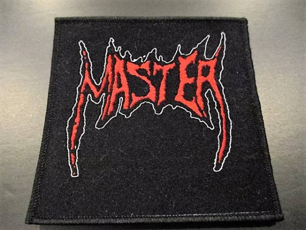 MASTER 刺繍パッチ ワッペン 黒 / slayer funeral bitch sodom