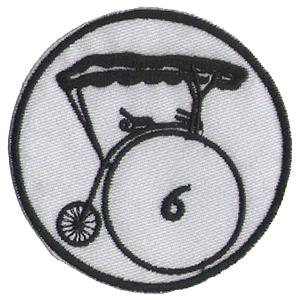 プリズナーNo.6 刺繍ワッペン(パッチ)_画像1