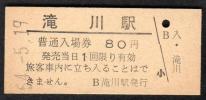 (函館本線)滝川駅80円
