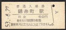 (総武本線)錦糸町駅60円