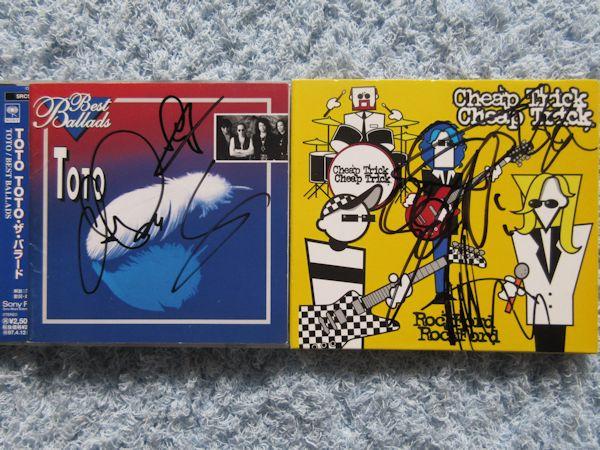 ◇TOTO+チープトリック 直筆サイン入りCD2枚! ライブグッズの画像