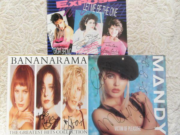 □バナナラマ+マンディ+エクスポゼ 直筆サイン入りLP3枚!