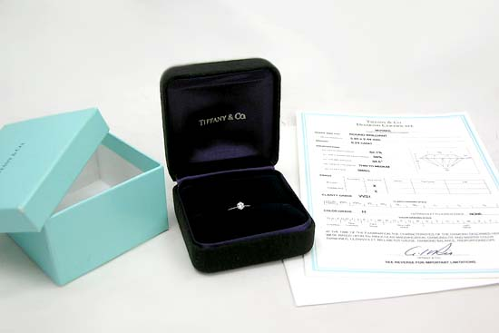 本物 Tiffany&Co./ティファニー ダイヤモンドリング0.24ct ♯8_画像1