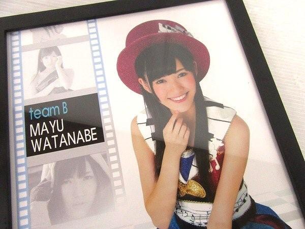 【C800-8】AKB48 渡辺麻友 額入りポスター 格安 売切り まゆゆ_画像2