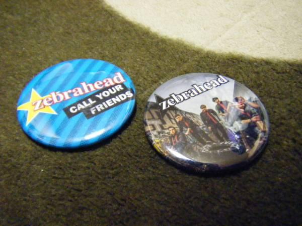 美品 ゼブラヘッド Zebrahead 缶バッジ バッチ 2個セット